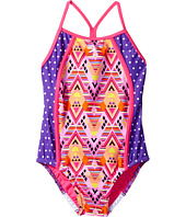 Speedo Kids - Diamond Geo Splice One-Piece Swimsuit (Little Kids)