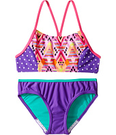 Speedo Kids - Diamond Geo Splice Two-Piece Swimsuit (Big Kids)