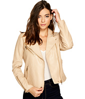 Blank NYC - Natural Vegan Leather Moto Jacket in Natural Light