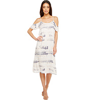 Michael Stars - Shibori Print Flounce Sleeve Slip Dress