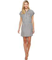 TWO by Vince Camuto - Short Sleeve Tencel Two-Pocket Utility Shirtdress