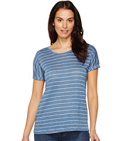 TWO by Vince Camuto - Short Sleeve Tempo Stripe Yarn-Dye Linen Tee