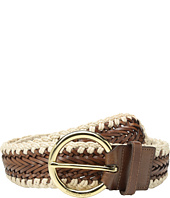 MICHAEL Michael Kors - 50mm Braided Panel Belt with Macrame Edge