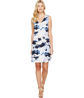 Nally & Millie - Cloud Print V-Neck Dress