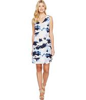Nally & Millie - Cloud Print V-Neck Dress