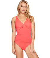 LAUREN Ralph Lauren - Beach Club Solids Twist Over the Shoulder Underwire One-Piece