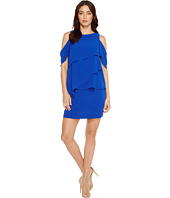 Tahari by ASL - Draped Cold Shoulder Shift Dress