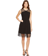 Tahari by ASL - Embroidery Trim Fit-and-Flare Dress