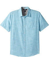 Volcom Kids - Everett Oxford Short Sleeve Woven Top (Big Kids)