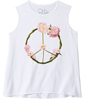 Chaser Kids - Garden Peace Wreath Tank Top (Little Kids/Big Kids)