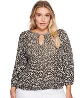 MICHAEL Michael Kors - Plus Size Mini Finly Peasant Top