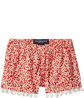Toobydoo - Red & White Pom Pom Shorts (Toddler/Little Kids/Big Kids)