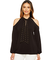 MICHAEL Michael Kors - Dome Stud Cold Shoulder Top