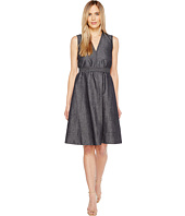 Ellen Tracy - Belted Fold Dress
