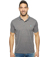 U.S. POLO ASSN. - Polyester Heather Pique Polo Shirt