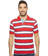 U.S. POLO ASSN. - Balanced Stripe Pique Polo Shirt