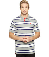 U.S. POLO ASSN. - Balanced Stripe Pique Polo Shirt