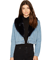 BB Dakota - Mia Faux Fur Trim Denim Jacket