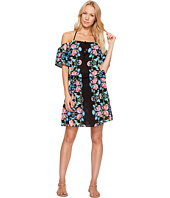 Nanette Lepore - Damask Floral Off the Shoulder Short Dress Cover-Up