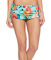 Tommy Bahama - Floriana Shirred Skirted Hipster Bikini Bottom