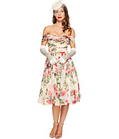 Unique Vintage - Chiffon Off Shoulder Garden State Dress
