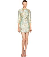 Francesco Scognamiglio - Long Sleeve Round Neck Jacquard Dress
