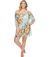 BECCA by Rebecca Virtue - Plus Size High Tea Cold Shoulder Dress Cover-Up