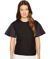 See by Chloe - Cotton Embroidered Sleeve T-Shirt