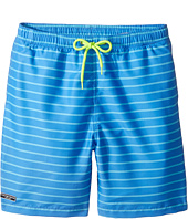 Toobydoo - Aqua Blue Pinstripe Swimsuit - Short (Infant/Toddler/Little Kids/Big Kids)