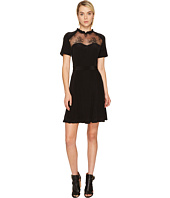 The Kooples - Short Sleeve Dress in Silk Taffeta