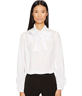 Francesco Scognamiglio - Bow Front Long Sleeve Woven Top