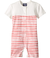Toobydoo - Red Stripe Henley Shortie Jumpsuit (Infant)