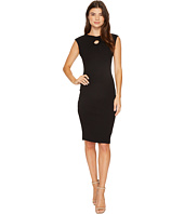 Christin Michaels - Selena Sleeveless Fitted Dress with Neck Detail