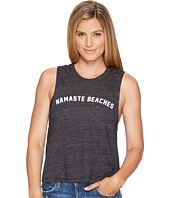 Spiritual Gangster - Namaste Beaches Arch Crop Tank Top