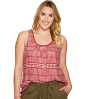 Lucky Brand - Plus Size Red Geo Tank Top