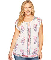 Lucky Brand - Plus Size Woodblock Floral Top