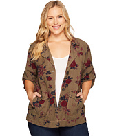 Lucky Brand - Plus Size Printed Short Sleeve Military