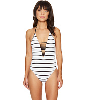 Seafolly - Castaway Stripe Deep V Maillot One-Piece