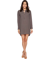 1.STATE - Long Sleeve Lace-Up Shift Dress