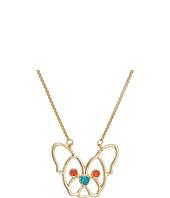Betsey Johnson - CZ Stone Dog Pendant Necklace
