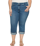 NYDJ Plus Size - Plus Size Dayla Wide Cuff Capris in Heyburn Wash