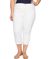 NYDJ Plus Size - Plus Size Alina Capris in Optic White