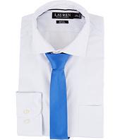 LAUREN Ralph Lauren - Slim Fit Non Iron Mini Dot Poplin Plaid Spread Collar Dress Shirt