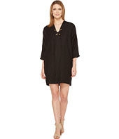 Three Dots - Lace-Up Cocoon Dress