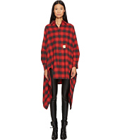 DSQUARED2 - Grunge Melange Check Cotton Button Up Blanket Shirt
