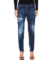 DSQUARED2 - Cool Girl Stitched and Distressed Jeans in Blue