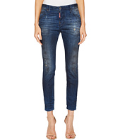 DSQUARED2 - Cool Girl Spazzacamino Wash Jeans in Blue