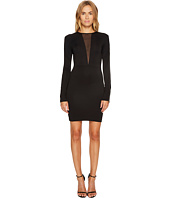 Just Cavalli - Jersey V Mesh Long Sleeve Dress