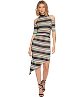 Nicole Miller - KP Festival Stripe Cold Shoulder Dress