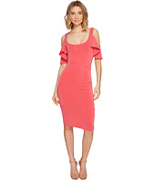 Nicole Miller - Sophia Cupro Cold Shoulder Sleeve Dress